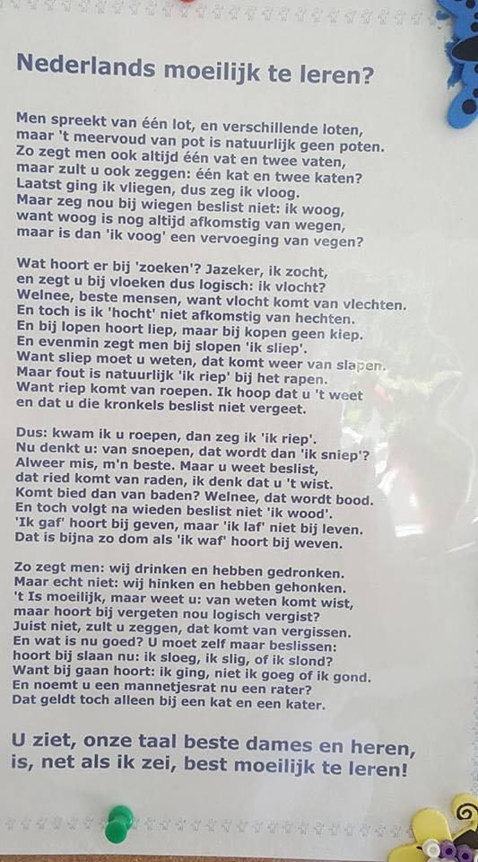Nederlands moeilijk te leren?