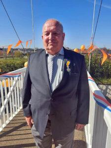 Vrijwilliger Jan Zevenbergen onderscheiden